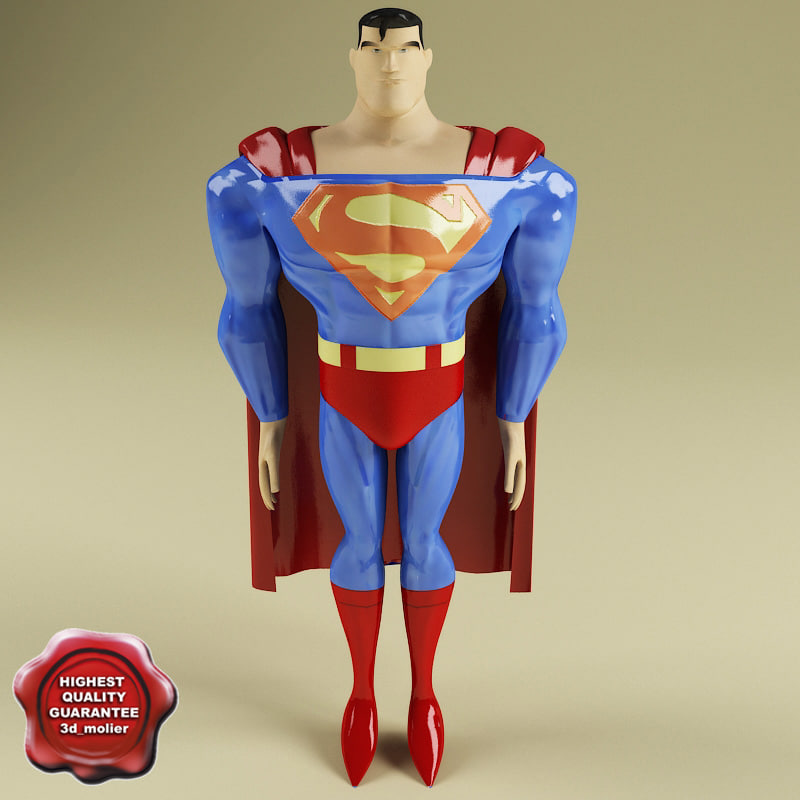3ds max superman modelled