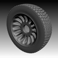 simple tire wheel 3ds free