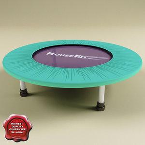 3d model of trampoline modelled scene