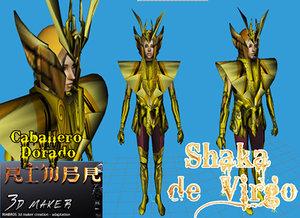 3ds shaka virgo saint seiya