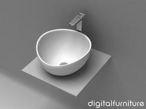 washbasins toilet 3d lwo