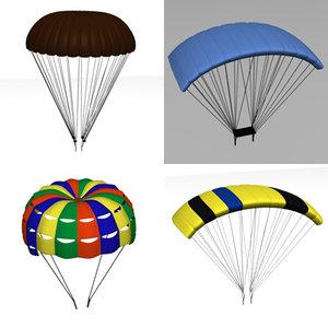 3d model of parachutes