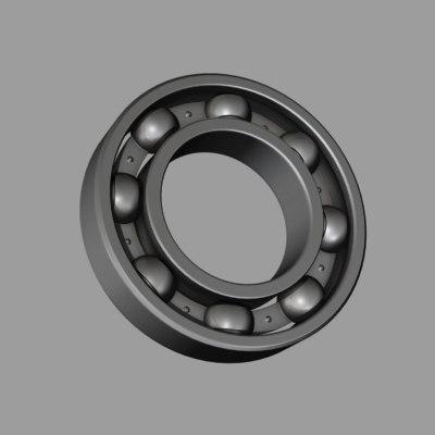 3d model ball bearing