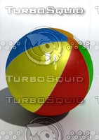 ball beach beachball 3d model