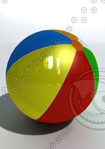 ball beach beachball 3d model
