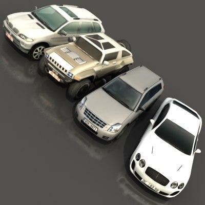 vehicles 3d max