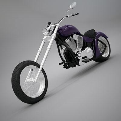 3d 3ds custom chopper