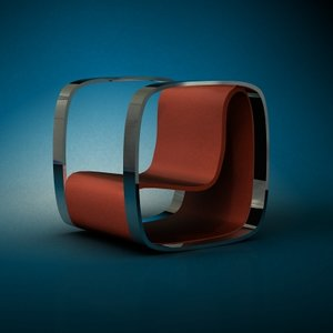 3d model chair art deco