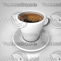 3d coffee cup espresso model