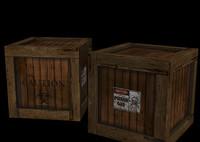 3d crate model