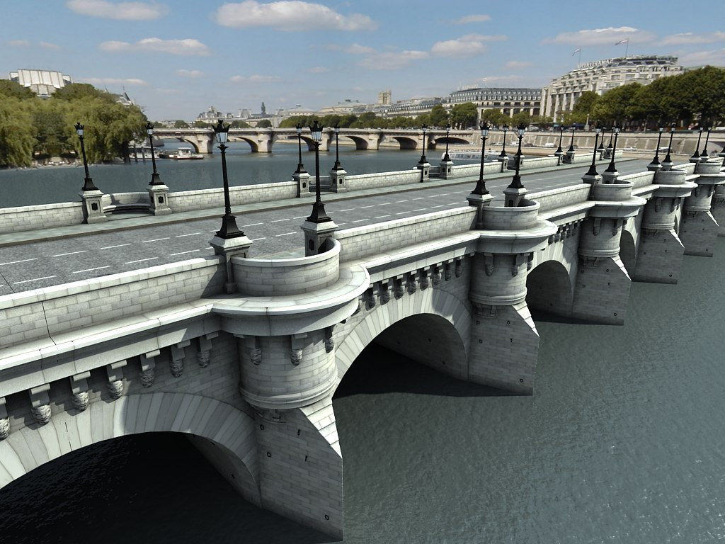 3d max pont neuf bridge