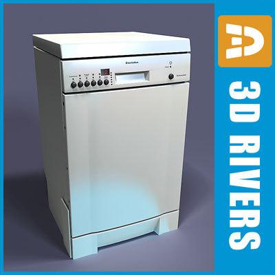 3d dishwasher electronic shop