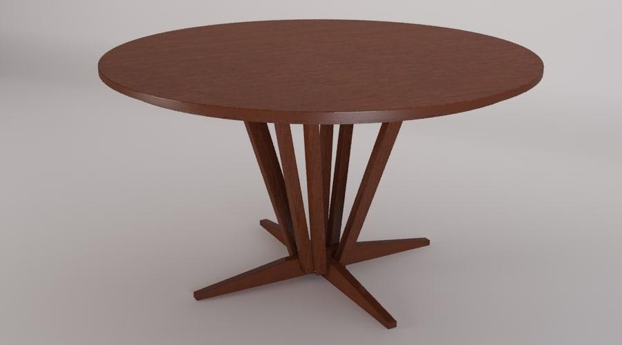 edo table 3d 3ds