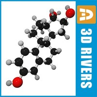 estriol molecule structure 3ds