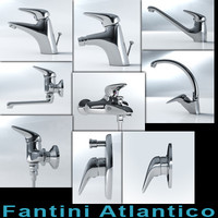 mixers fantini atlantico series 3d model