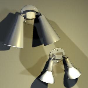 3d flood light fixtures 01 model