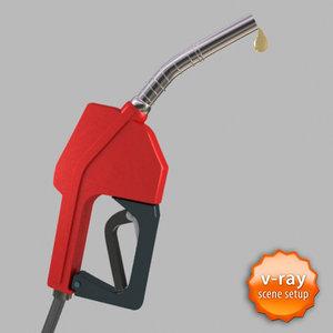 3d gas pump hose