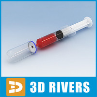 glass bulb syringe 3d model