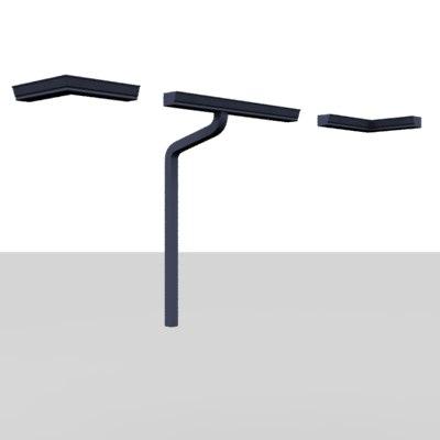 3d gutter pipe model