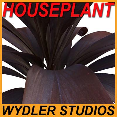 3d houseplant pottery vase model
