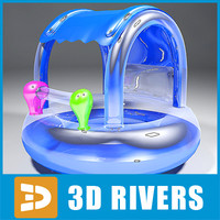 3ds inflatable baby ring