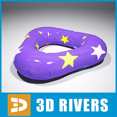inflatable swim ring 3d model