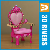 kid armchair furniture 3d model