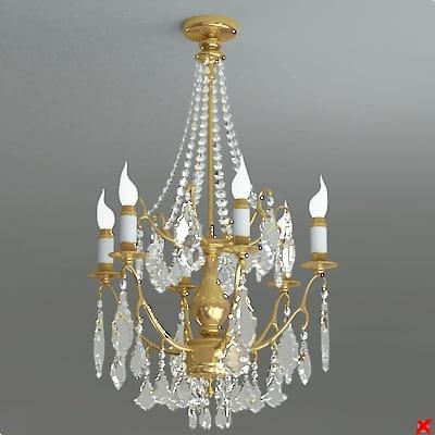 chandelier light 3d model