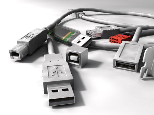 3d model usb connector