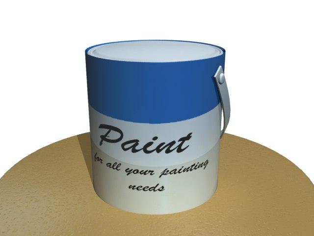 3d paint tin