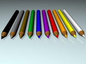 3d model color pensils