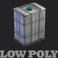 Plastic can - lowpoly model