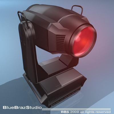3d spot moving head light model
