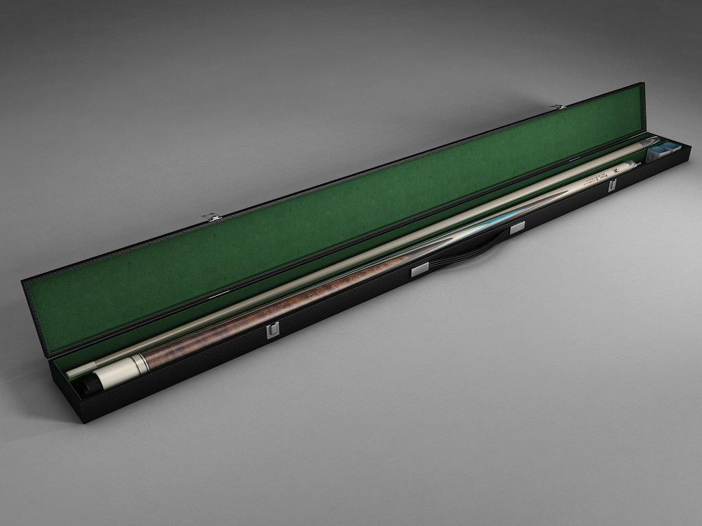 cue stick case 3d 3ds