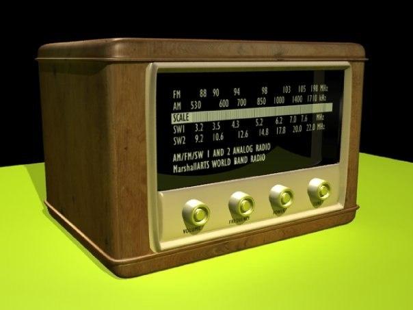 classic radio 3d model