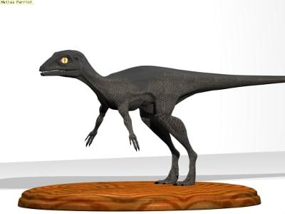 dinosaur eoraptor dino 3d blend