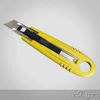 3d model paper cutter cut
