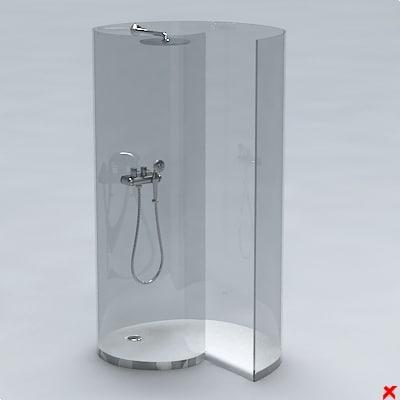 3d 3ds shower cabin