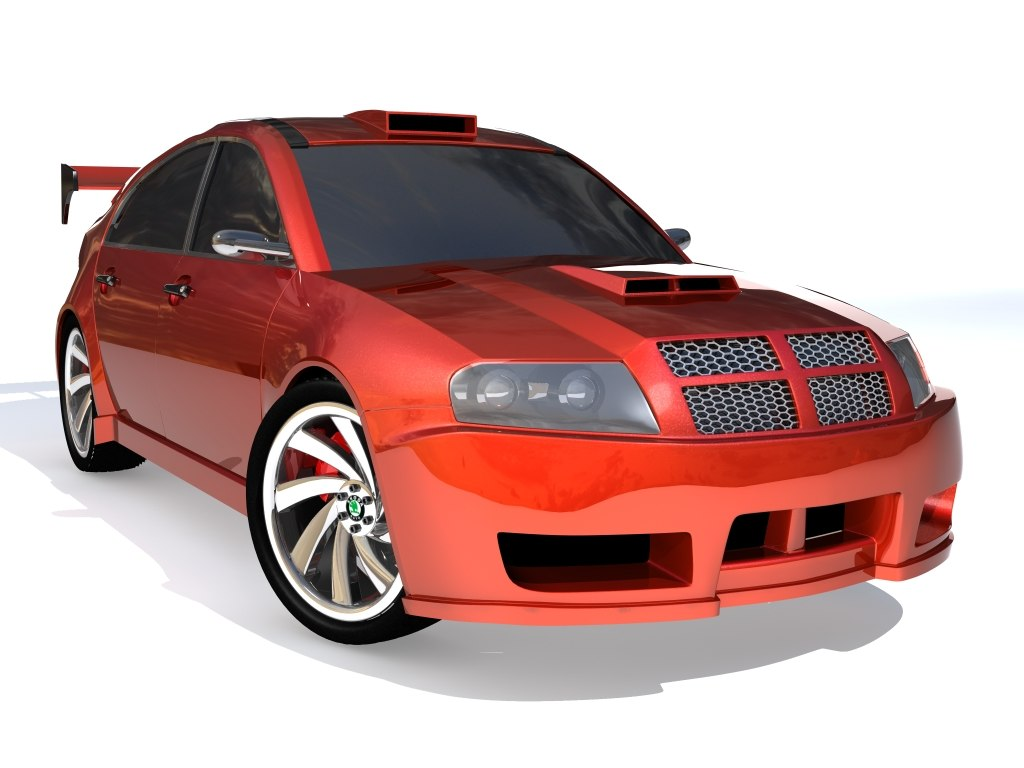 3d car skoda superb