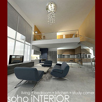 3d model double soho interior