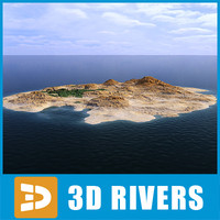 3d island sea view model