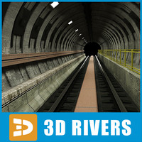 3d subway tunnel