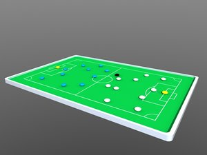3d model soccer football tactics board