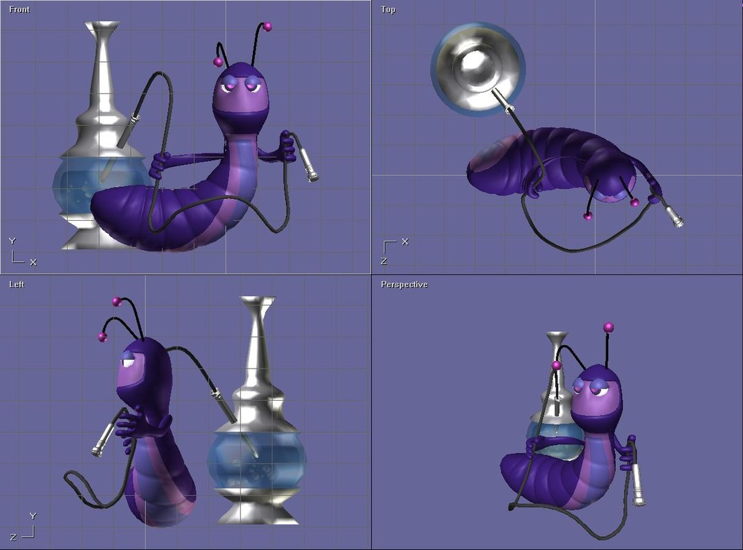 free alice wonderland hooka 3d model