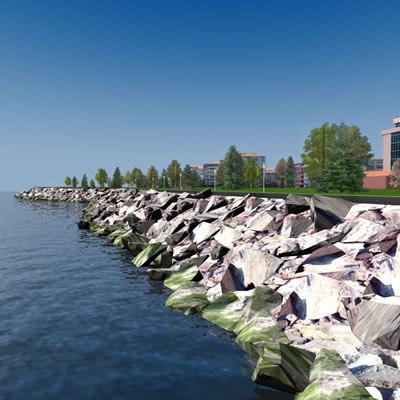 3d sea seafront model