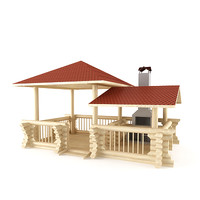 summerhouse barbecue 3d model