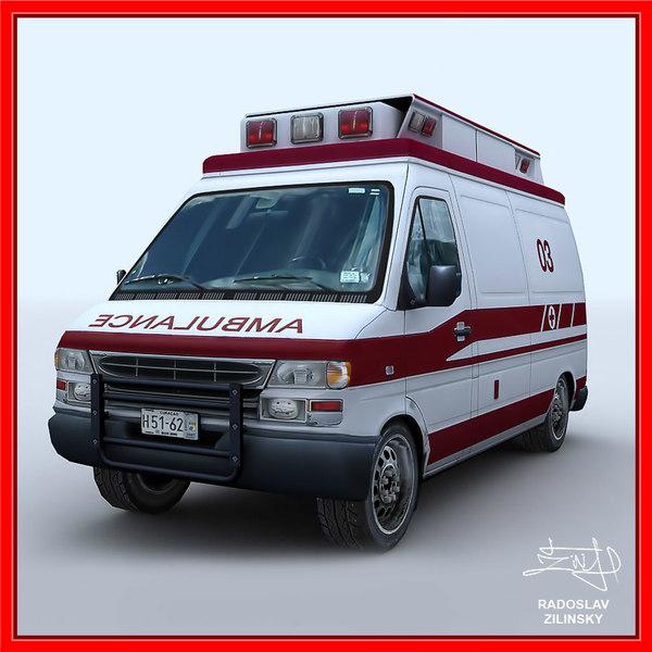 ambulance clean version 3d 3ds