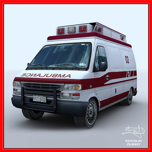 ambulance clean version 3d 3ds