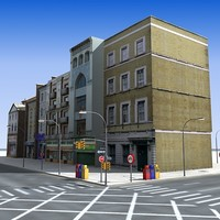 3d model city street