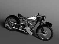 3ds max classic motorcycle brough superior